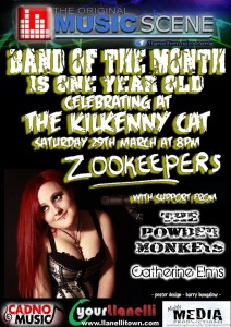 Llanelli Band of the Month Kilkenny Cat Zookeepers The Powder Monkeys Catherine Elms