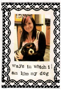 Ways in Which I Am Like My Dog zine cover