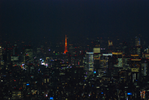 Tokyo Tower in the distance - photo by Lisa