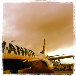 plane alive in Berlin travel passport Ryanair