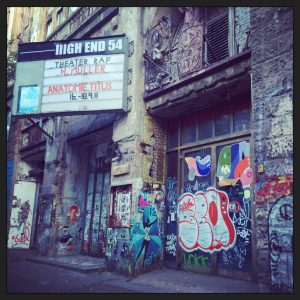 graffiti abandoned theater Berlin Mitte Alive in Berlin travel