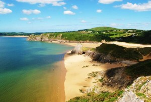 Swansea Three Cliffs Bay Gower