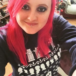 Doctor Who Christmas jumper redhead red hair