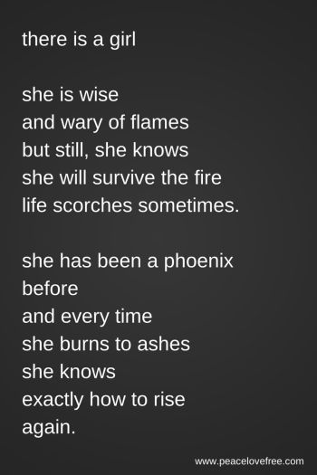 there is a girl poem rise