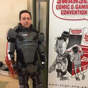 commander sheppard cosplay swansea