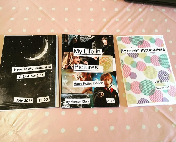 From left: mine, Morgan's, and Kirsty's zines