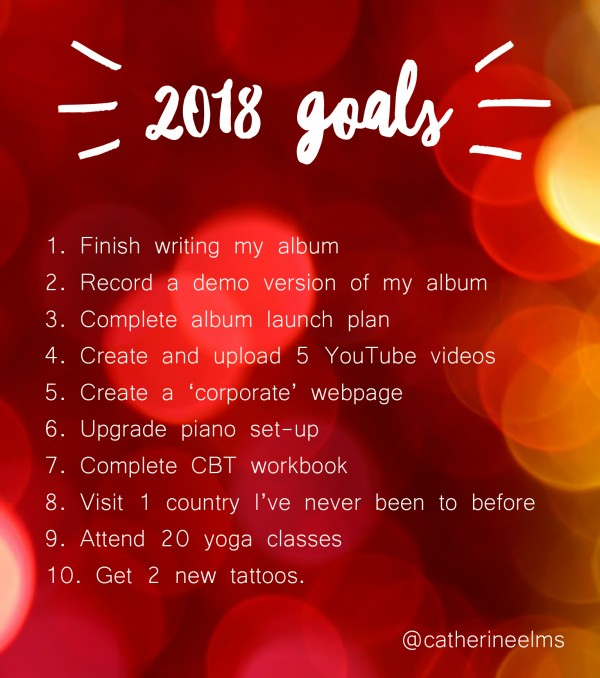 2018 goals catherine elms 2