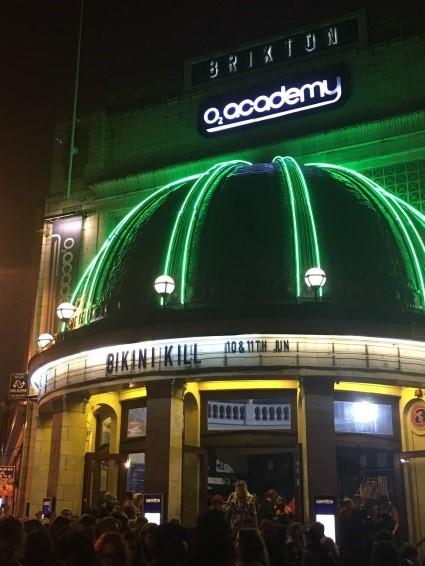 Brixton Academy exterior at night