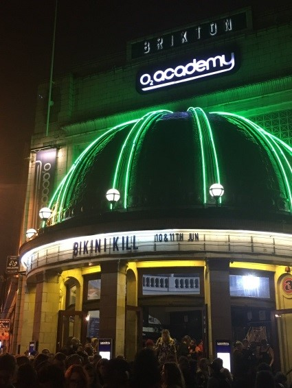 Brixton Academy exterior at night